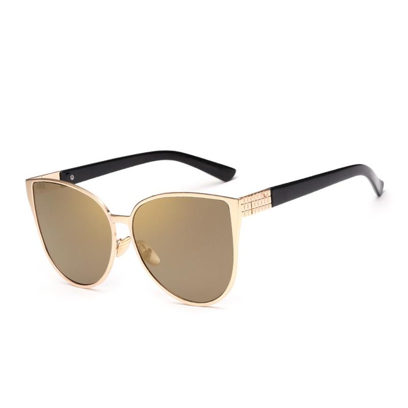 a23fa1dd45 Lucky Lion Retro Cat Eye Sunglasses Women Blue Pink Lens Sun glasses Fashion  Light Weight Sunglass for Women Vintage Metal Eyew