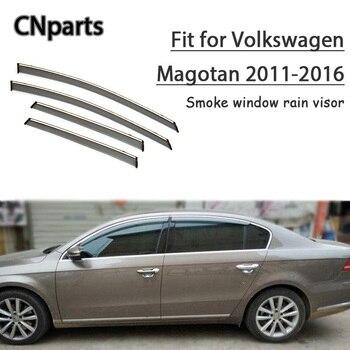 CNparts 4pcs ABS For Volkswagen Magotan 2011 2012 2013-2016 Car Smoke Window Visor Keep  Fresh Air  convection Accessories