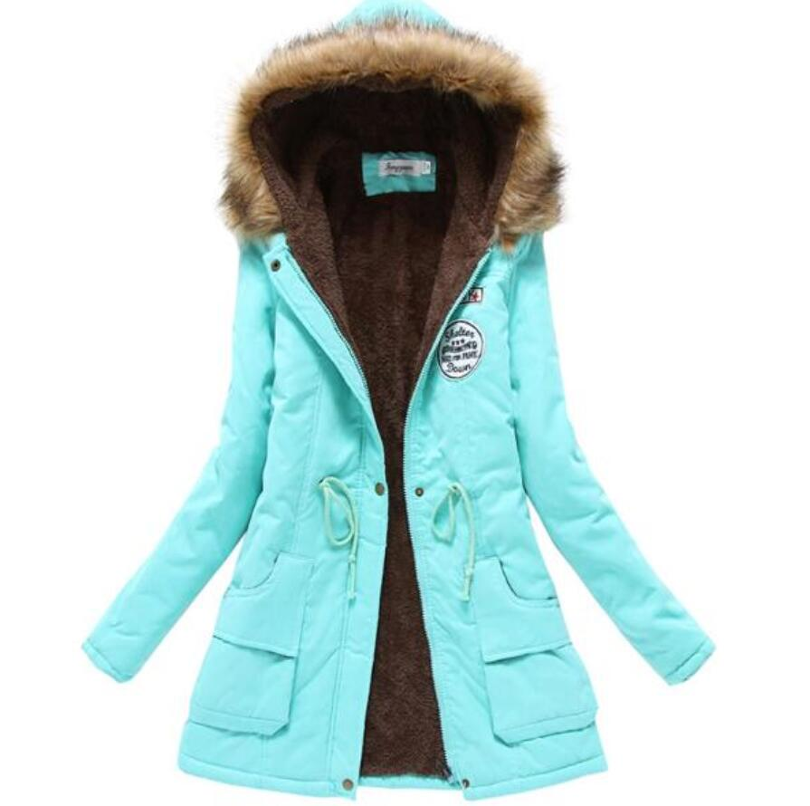 3xl plus size winter parkas women wadded jacket female outerwear slim winter hooded coat long cotton padded fur collar jacket big fur collar winter jacket women parka wadded jacket female outerwear thick hooded coat long cotton padded parkas plus size