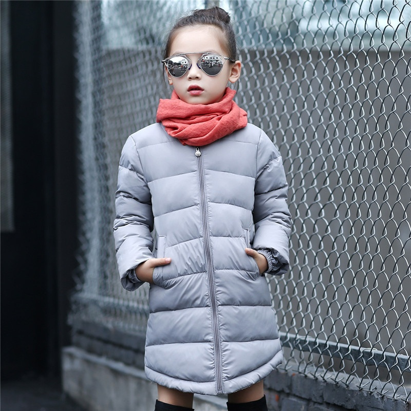 New Down Jacket 2018 Children Cute Fashion Warm Long CoatNew Down Jacket 2018 Children Cute Fashion Warm Long Coat
