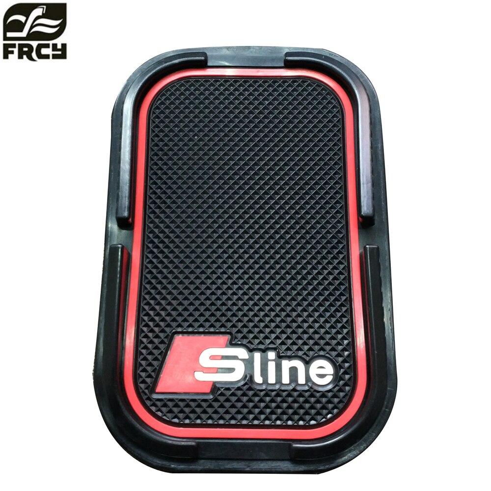Car phone mat sticker For SLINE For Audi A4 B6 B8 Q5 Q7 BMW E46 E39 E90 E36 Ford Focus kuga Fiesta Ecosport Mondeo Car Styling комплект адаптеров ford focus 1 audi a4 до 2000