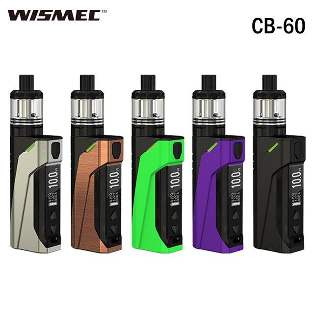 Оригинальный Wismec CB-60 комплект 60 Вт E пачку сигарет MOD CB-60 2300 мАч Батарея Vape с 2 мл Amor НС бак MTL Вдыхание пара распылителя