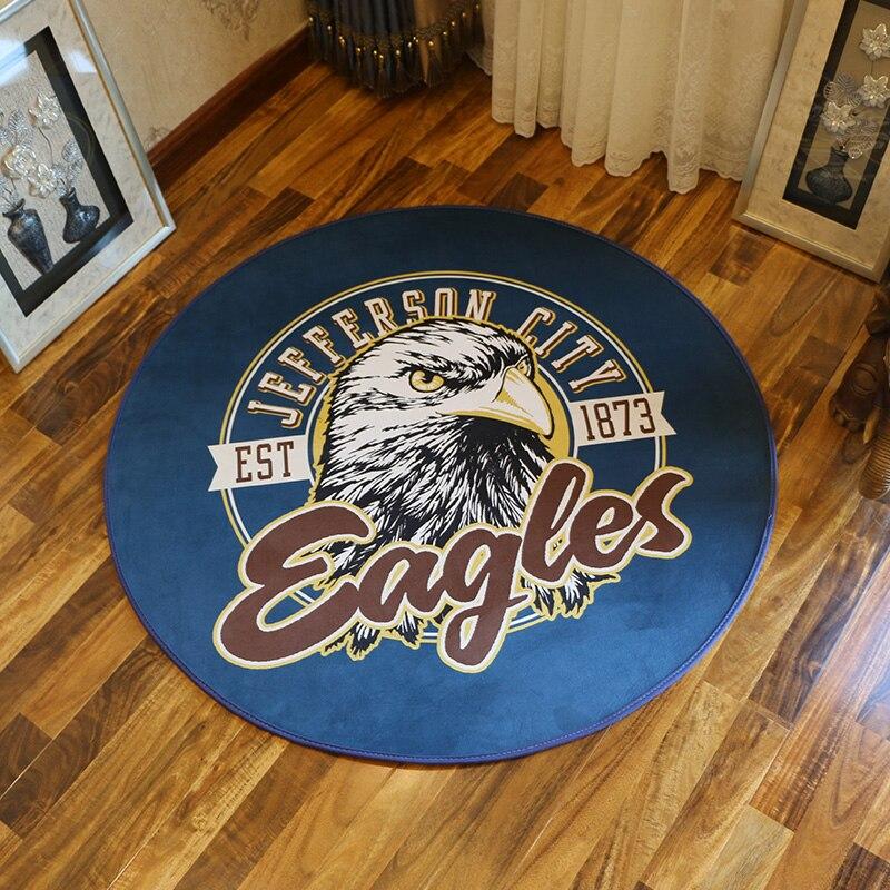 American Retro series cartoon Eagle Round Bathroom Carpets Living Room Doormat Kid Room Rugs Door Floor chair Mat For Bedroom