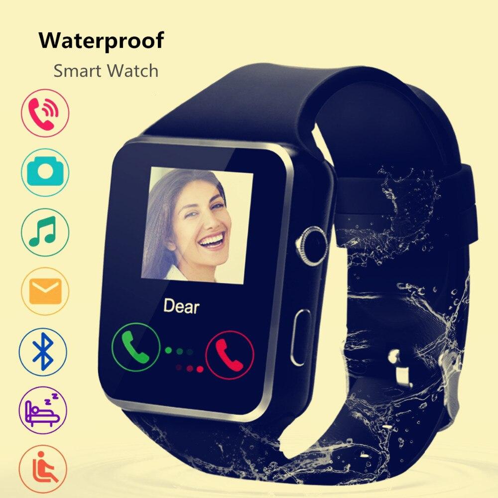 Bluetooth Montre Smart Watch X6 Sport Passometer Smartwatch avec TF/SIM/Podomètre Analyze/Surveillance Du Sommeil pour Android et IOS