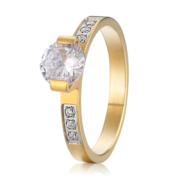 custom gold color alliance cz stone engagement rings for women size 4.5 to 15