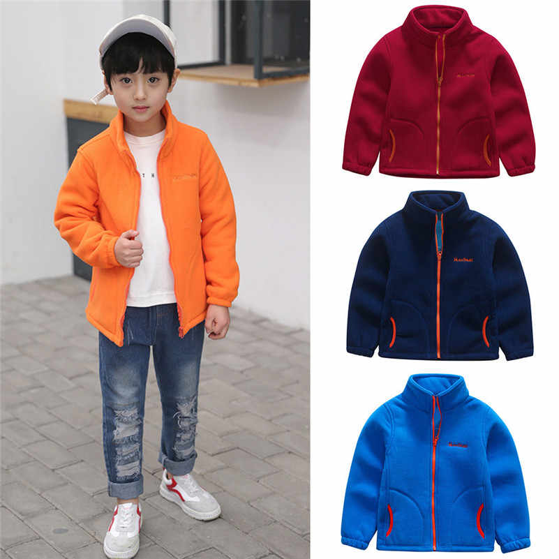 558a7b38 201New Style Baby Winter Wear Toddler Kids Baby Boys Fleece Solid Jackets  Baseball Coat Outwear Warm