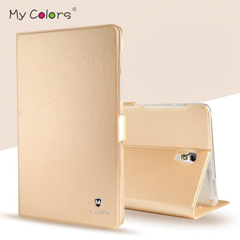 Mode Coque PU Leder Stehen Fall Abdeckung Für Tablet Samsung Galaxy Tab S 8,4 T700 T705 Ultra Dünne Smart Halter abdeckung Fall Capa