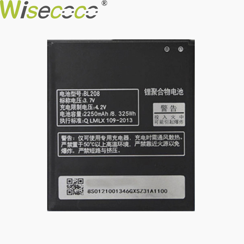 WISECOCO In Stock High Quality New 2250mAh BL208 Battery For <font><b>Lenovo</b></font> S920 / <font><b>A616</b></font> / A690E / A5800-D Mobile Phone+Tracking Number image