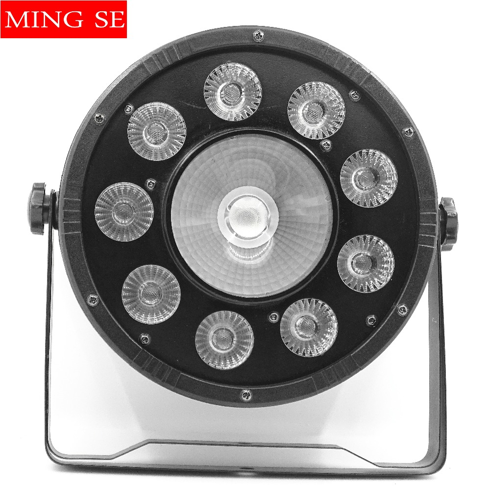Free Shipping 9x10W+30w Flat LED Par Lights, 9*10w+30w RGBW 3IN1 PAR DMX512 control disco lights professional stage DJ equipment 新世纪文学群落与诗性前沿