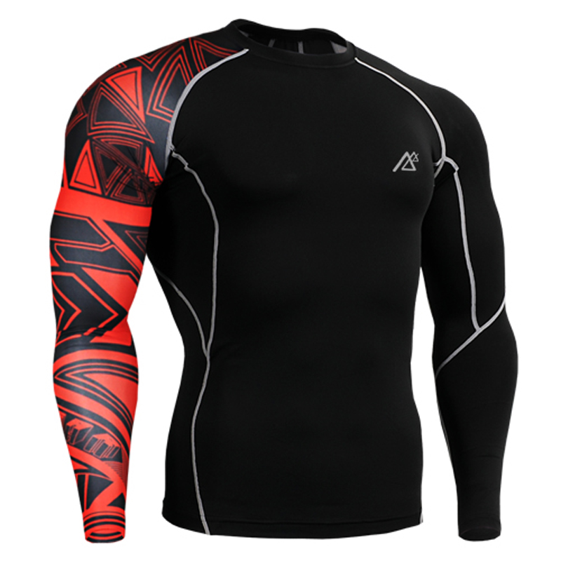 MMA GYM Compression Shirts Rashguard Fitness Long Sleeves Base Layer Skin Tight Weight Lifting Men Running Crossfit T - LANWIND Store store