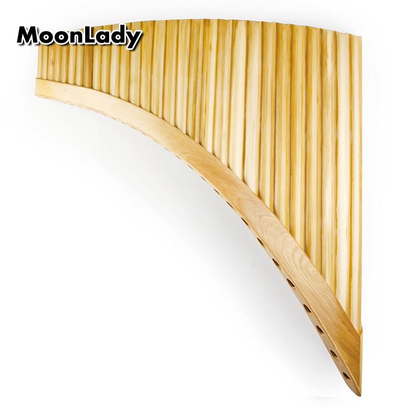 Main gauche naturel bambou Pan flûte roumain Folk Instrument Panpipes 29 tuyaux G clé bois vent souper lumière Pan flûte Flauta