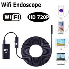 WIFI Endoscopio Cámara Inalámbrica HD 720 P Lente de 8mm 7 M 10 M Boroscopio Serpiente USB Iphone Android IOS tableta Inalámbrica Boroscopio Cámara