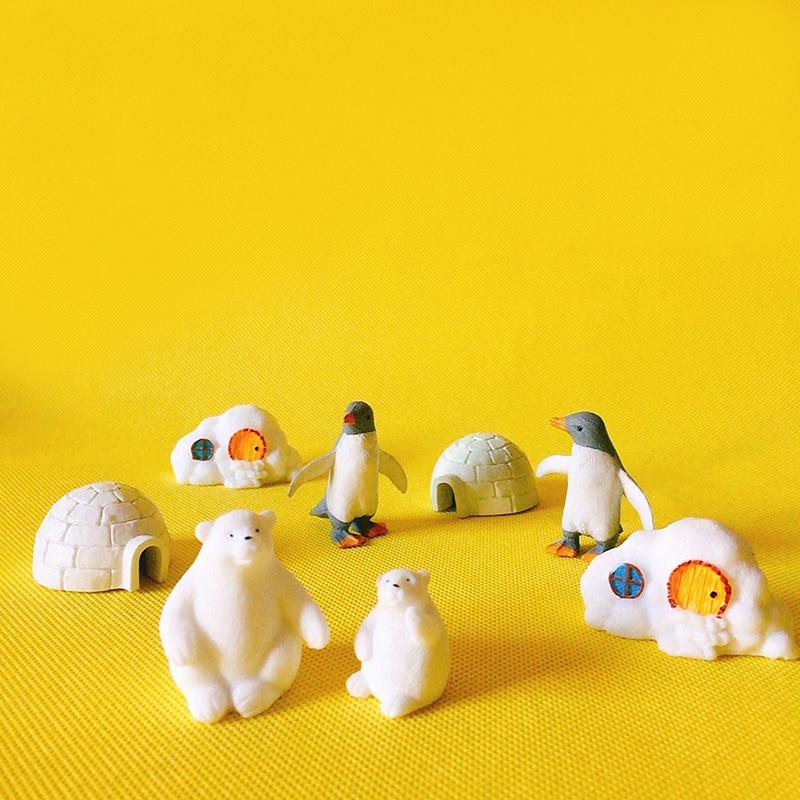 polar bear/fairy garden/terrarium decor/ vintage home decor/Christmas birthday gift/miniatures animals/figurine/diy supplies
