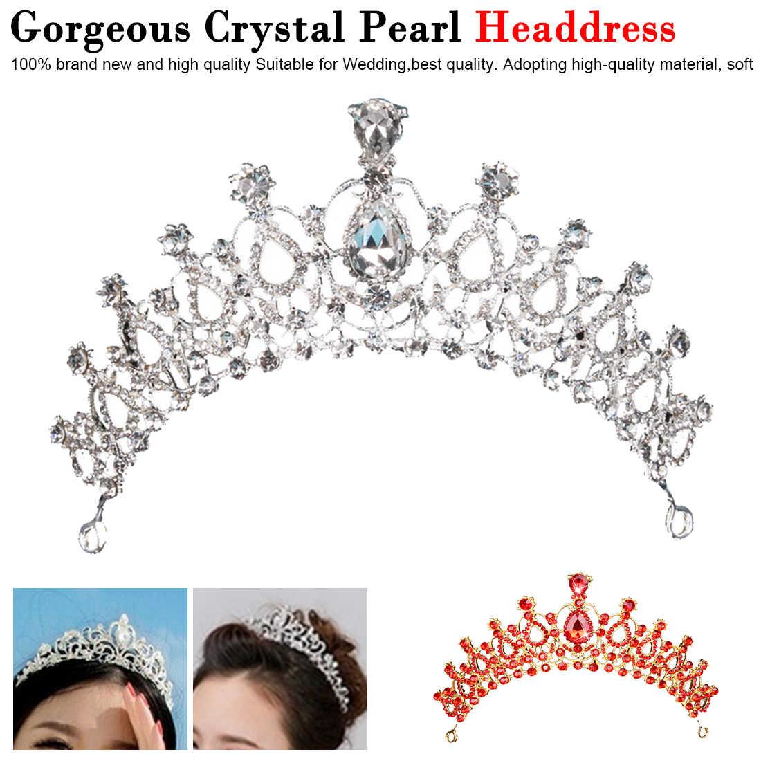 Accessoires de bijoux de cheveux de mariage 1 pièces magnifique argent cristal mariée diadème couronne mariée bandeaux femmes ornements de cheveux de bal