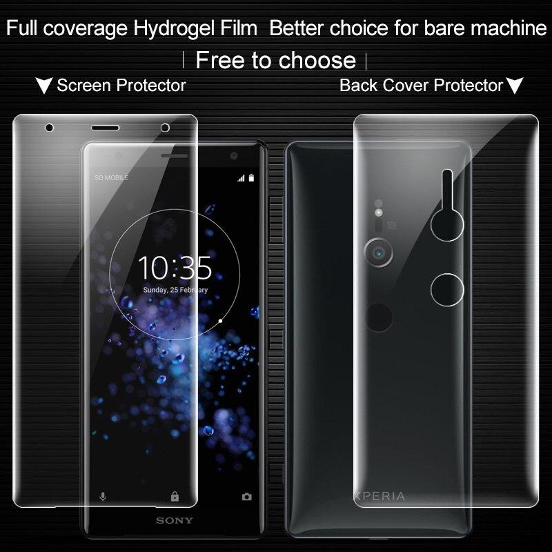 La sfor Sony Xperia XZ2 Écran Protecteur IMAK 3D Pleine Couverture avant + Arrière Doux Hydrogel Écran Protecteur Pour Sony Xperia XZ2