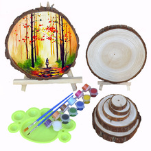 12-30cm Natural Pine Round Unfinished Big Size Wood Slices Circles With Tree Bark Log Discs DIY Crafts Wedding Party Painting