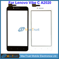 "Top Quality 5.0"" For Lenovo A2020 Vibe C A2020a40 Touch Screen Digitizer Front Glass Panel Sensor Black White Color"