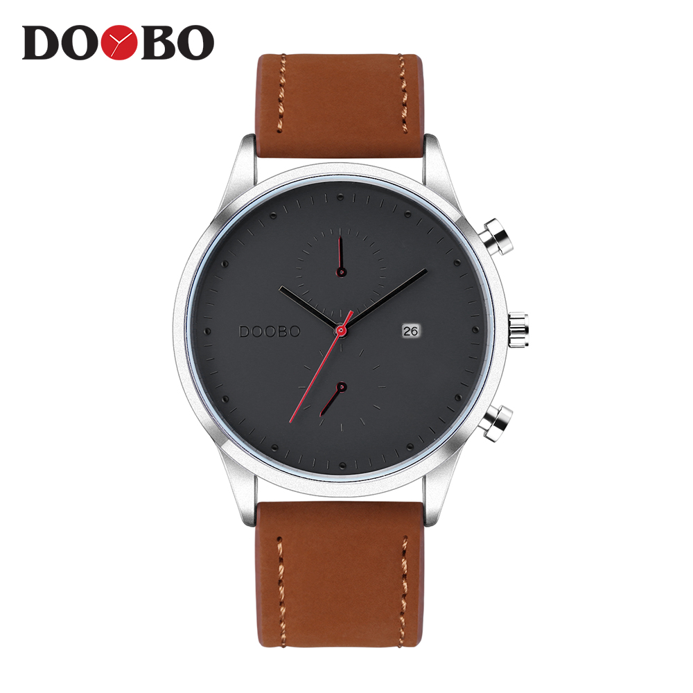 DOOBO Hodinky 2017 Mens Watches Top Brand Luxury Famous Quartz Watch Men Clock Male Wrist Watch Quartz-watch Relogio Masculino classic simple star women watch men top famous luxury brand quartz watch leather student watches for loves relogio feminino