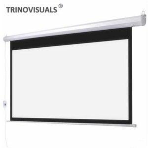 E1bjh, 80 92 100 120 polegada tela do projetor elétrico 16:9 cinema em casa barra da escola de negócios motorizada led dlp projeção tela