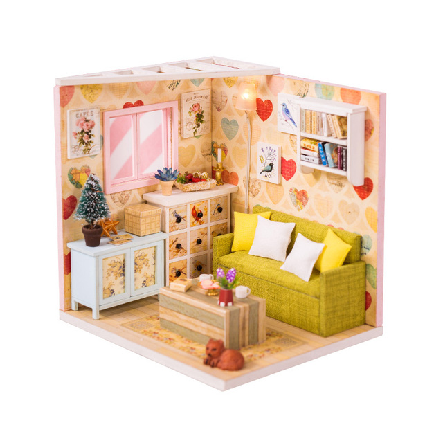 DIY Doll House Wooden Doll Houses Miniature Dollhouse Furniture Swimming Pool Kit Building villa Toy for children Christmas Gift