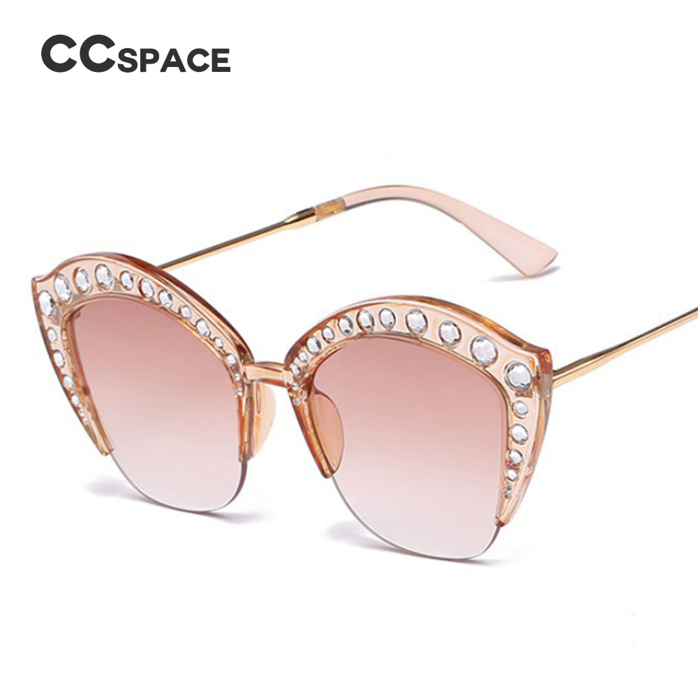 b6dccd2a8f7e Luxury Women Oversized Square Sunglasses Glasses Bling Frame Cat Eye  Fashion Clothing