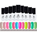 Born Pretty Soak Off UV Gel Nail Polish Manicure Nail Art Decoration for Nails 12 Candy Colors #1-12