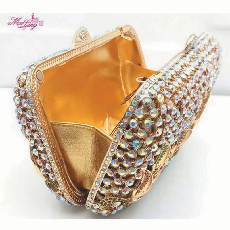 En Portefeuilles Sac Dames Cadeau Bolso De Tassen Banquet À Soirée Fleur Or Dîner Cristal Main Sacs Diamants Femmes Partie Femme Paquet qw81TxPf