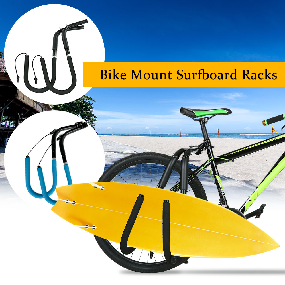 Bike Surfboard Rack Bicycle Surfing Board Carrier Mount to Seat Posts Accessories Water Sports Boat Kayak