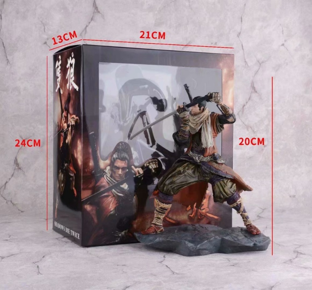 SEKIRO Shadows Die Twice Anime Game Figurine PVC Action Figures Toy 200mm SEKIRO: Shadows Die Twice Collection Model