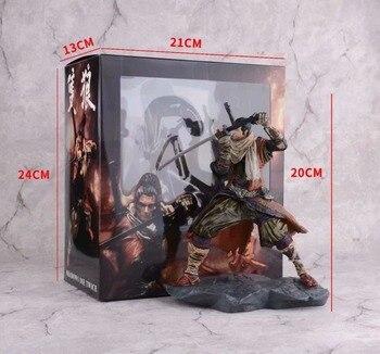 SEKIRO sombras morir dos veces figura de juego Anime PVC figuras de acción juguete 200mm SEKIRO: sombras morir dos veces modelo de colección