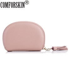 COMFORSKIN New Arrivals Guaranteed Top Layer Genuine Leather Card Wallets 2018 Fashion Brand Design Women Credit ID Holders