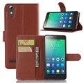 Luxo pu leather case capa para lenovo a6010 flip celular protetora escudo do telefone tampa traseira da pele com slot para lenovo a6000 plus
