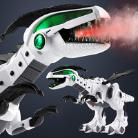 Electric Spray Dinosaur Robot Electronic Mechanical Dinosaurs Model Toys for children with Light Sound Walking