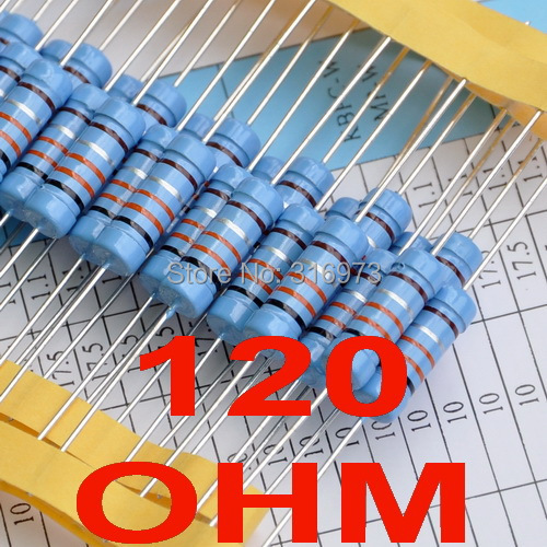 2 pcs/lot) 120 ohm 1% Metal Film Resistors 3W, 3 Watts-in Resistors ...
