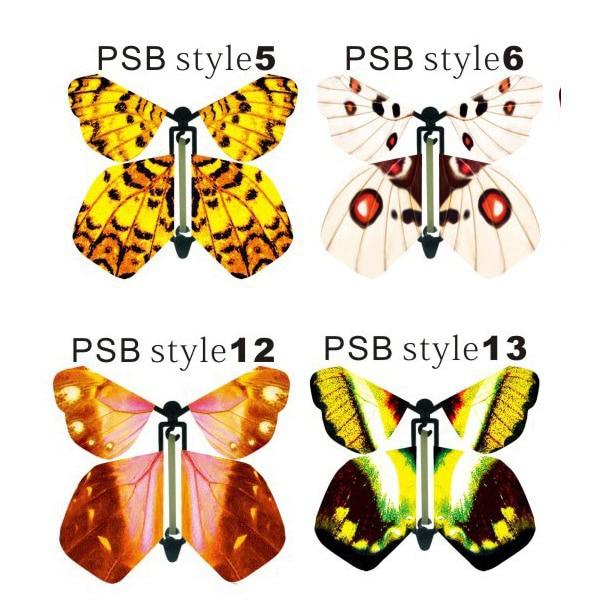 Sihirli kelebek, kağıt kelebek uçabilir, gerçekçi uçan kelebek - Tatiller ve Partiler Için - Fotoğraf 6