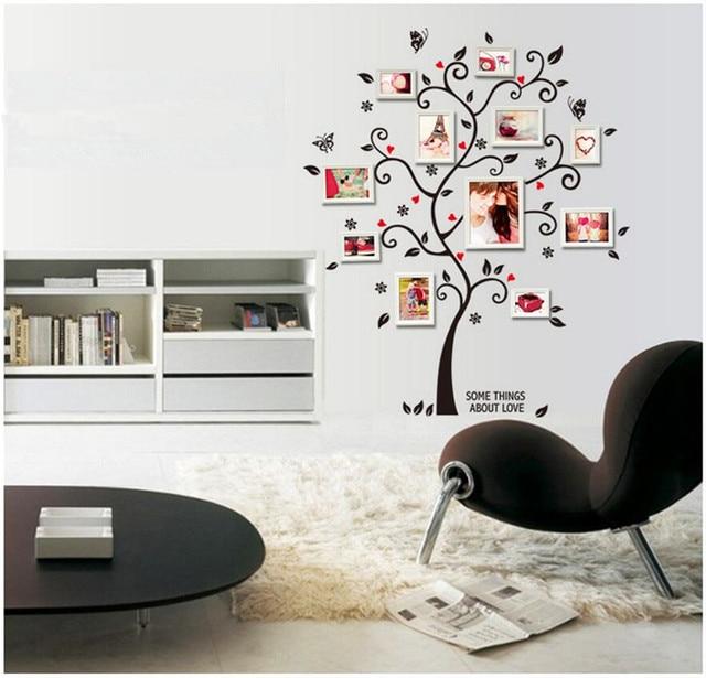 € 1.99  Stickers muraux pour enfants chambres Chic noir famille cadre Photo  arbre papillon fleur coeur Mural Stickers muraux décor à la maison ...