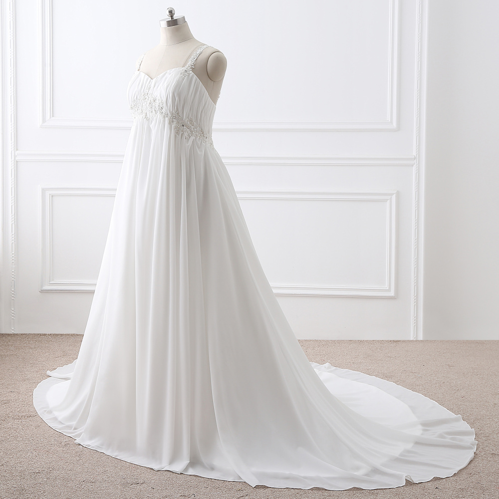Real picture chiffon plus size wedding dresses 2017 court train real picture chiffon plus size wedding dresses 2017 court train floor length long maternity dresses bridal wedding gowns in wedding dresses from weddings ombrellifo Image collections