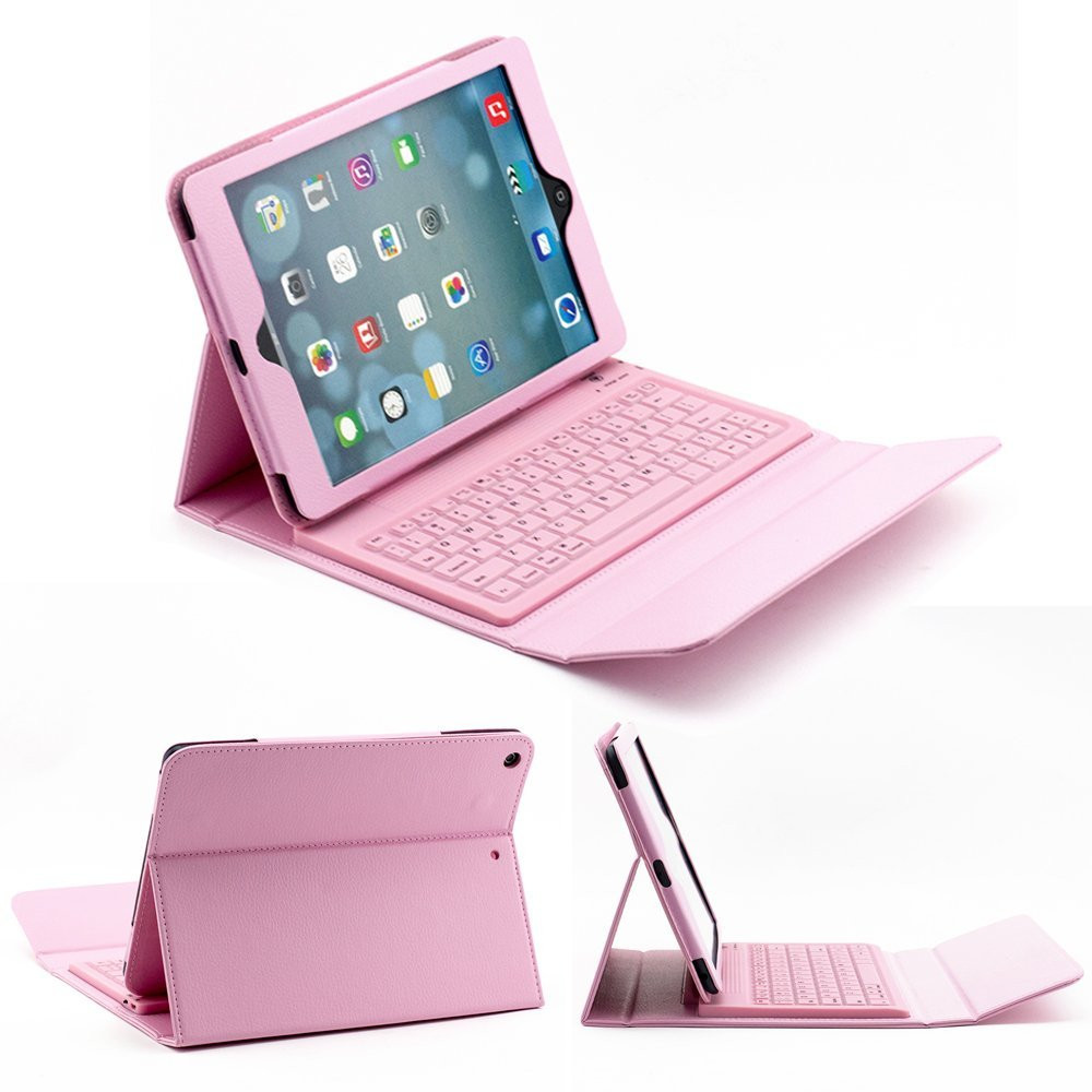 Smart Tablet Cover Funda For ipad air air2 pro 9.7 2017 2018 9.7 Silicon Bluetooth Keyboard PU Leather Cover +Stylus Pen+Film.