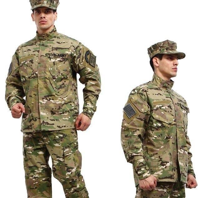 Militaire tactique chemise + pantalon multicam uniformes cp camouflage uniforme en gros militaire armée uniforme pour chasse guerre jeu cs