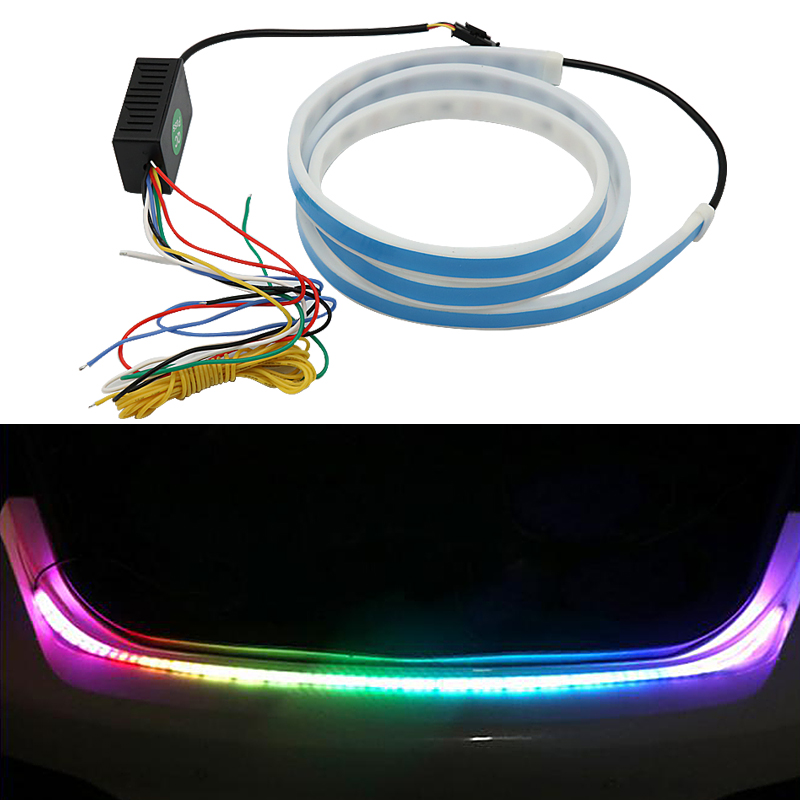 Flowing Car Tailgate <font><b>Brake</b></font> Light LED Turn Signal Rear Light Strip Day Running Light DRL FOR <font><b>BMW</b></font> M E46 F20 E87 E91 X5 E53 <font><b>E30</b></font> F30 image
