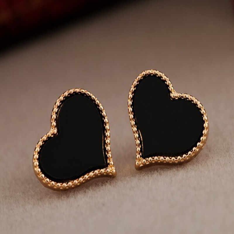Miễn phí vận chuyển phụ nữ Mới của đơn giản tình yêu trái tim đầy đủ của bông tai nhỏ giọt cho Nữ Ngọt Ngào Hợp Kim Stud Bông Tai quà tặng trang sức bán buôn