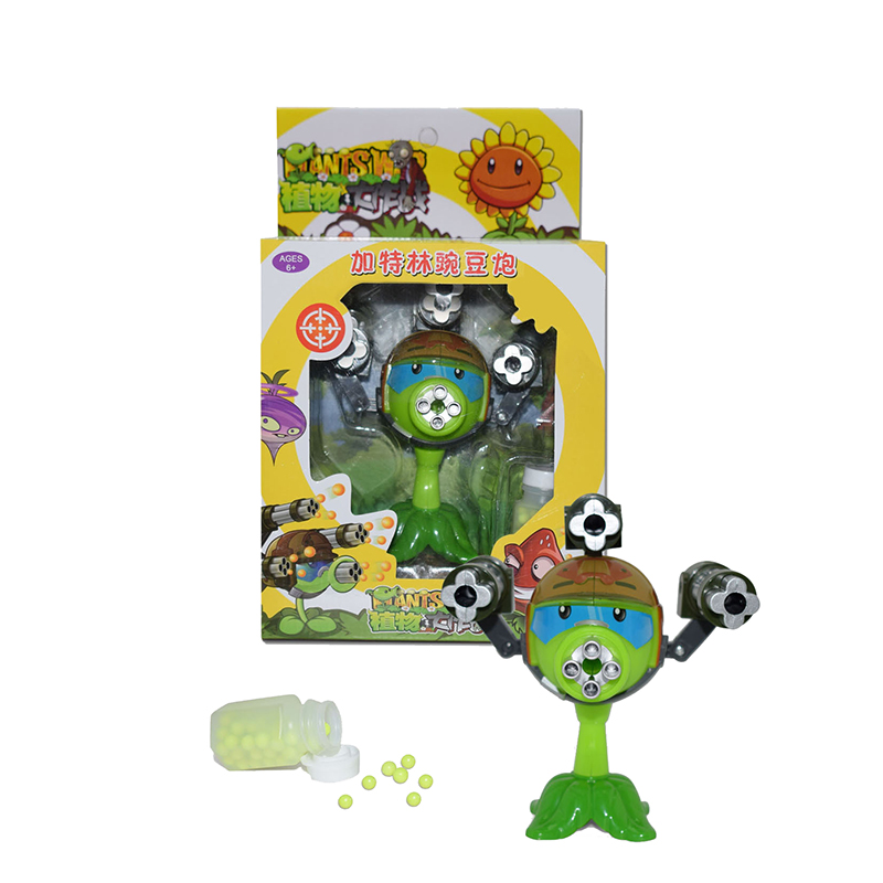 Game of Plants vs Zombies Figure Set PVC Action PVZ Toys Plants Vs Zombies Peashooter in Action Toy Figures from Toys Hobbies