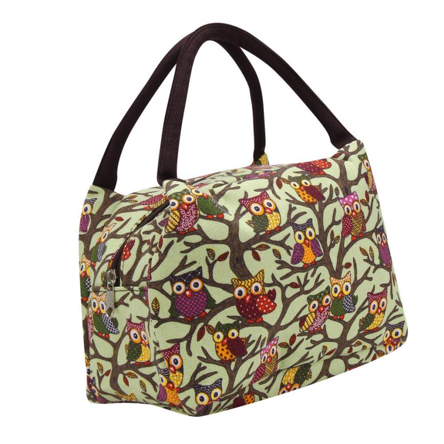 100% brand new and high quality Owl Thermal Insulated Tote Picnic Lunch Cool Bag Cooler Box Handbag Pouch apr2
