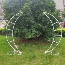2pcs/set wedding arch Moon Ship Metal Iron Arch birthday party supplies flower Stand crescent arch Wedding Backdrop decoration