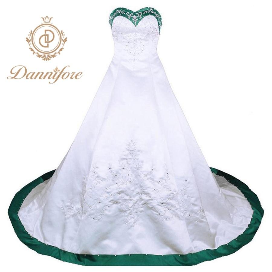 Dannifore Blanc Robe De Bal De Mariage Robe Vert Violet Noir
