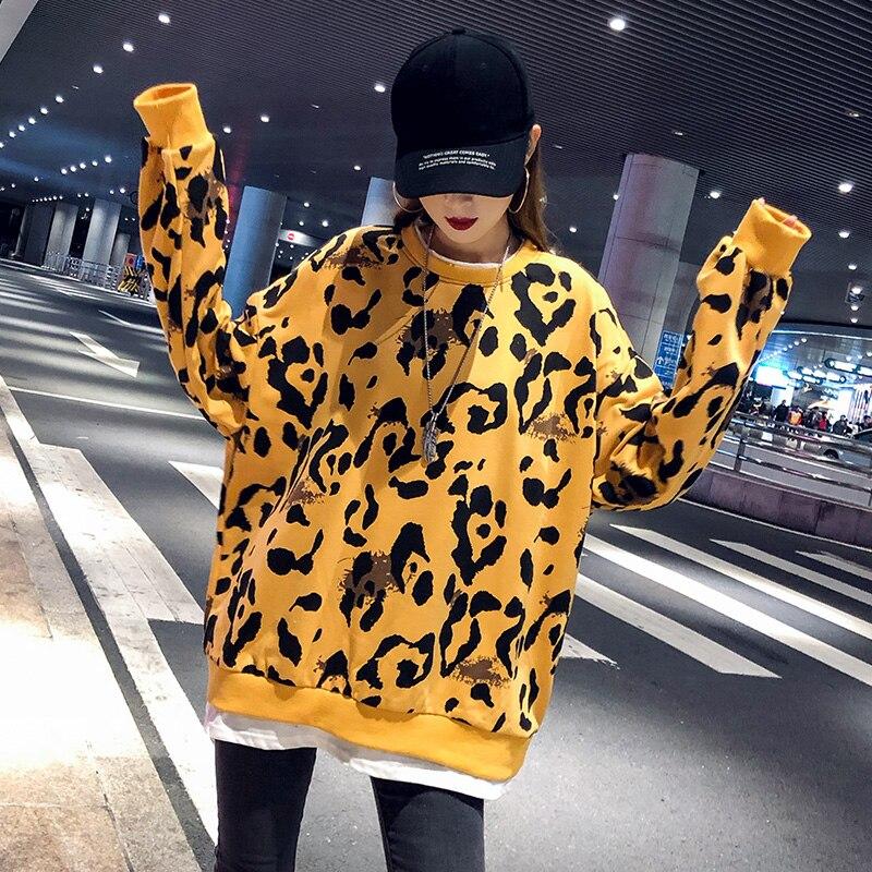Pour Épaule Hiver Pull Chandail Décontracté Robe Tricoté Printemps Longue Femme Pulls 2019 Off Léopard Jaune Haut qwXg40UH