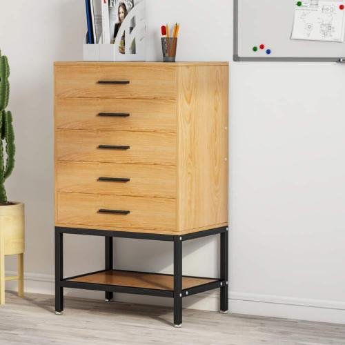 File Cabinet U0026 Collection 3 Or 5 Drawer Dresser Tall Accent Chest With Open  Storage