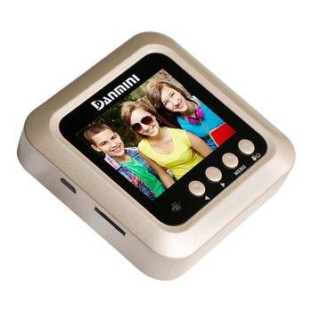 Danmini W5 2.4 Polegada Tela Colorida Digital De Segurança Da Porta Não Perturbe Peephole Visualizador De Porta Inteligente 2 Mp Suporte Max 32g Cartão Tf