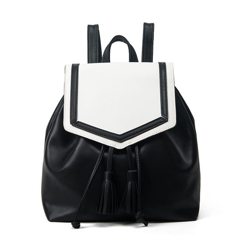 Women Panelled Backpacks 2017 New Fresh Panelled Tassel Backpack Fashion Simple Travel Student School Backpacks BP020