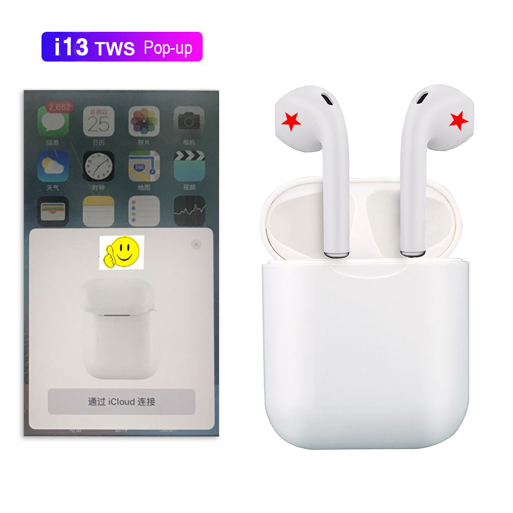 2cbc43c93f9 pop up can choose i10 tws i10s tws wireless charge support Earphones ...